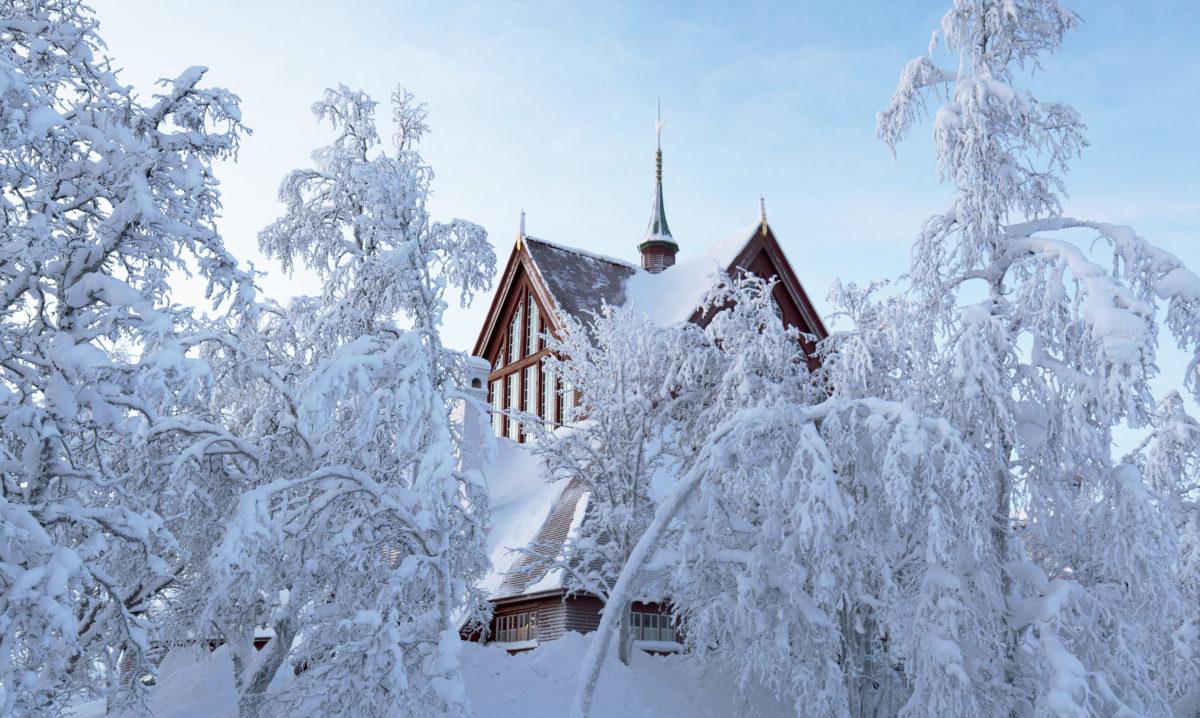 kyrkan vinter