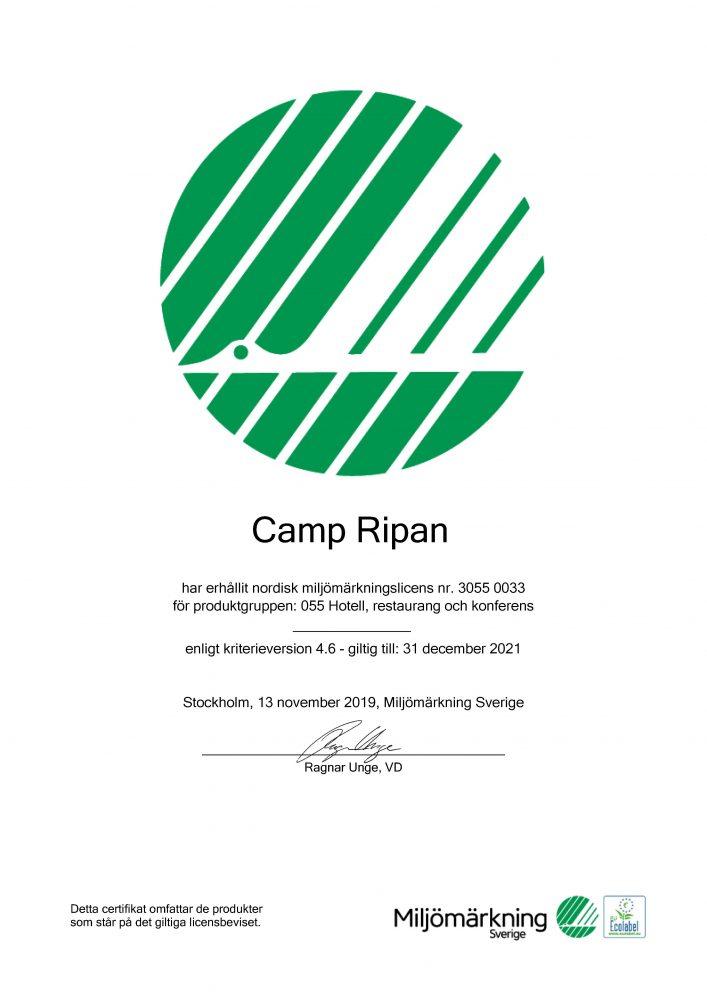 Svanen certifikat